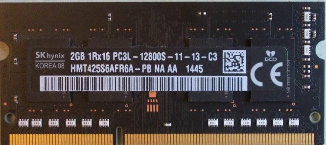 SKhynix 1Rx16 PC3L-12800S-11-13-C3