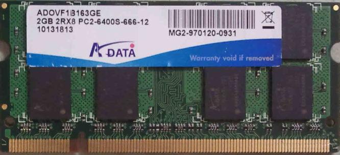 ADATA 2GB 2Rx8 PC2-6400S-666-12