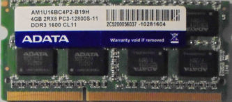 ADATA 4GB 2Rx8 PC3-12800S-11