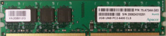 2GB PC2-6400 CL5 Apacer
