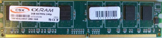 CSX 2GB 667MHz 240p
