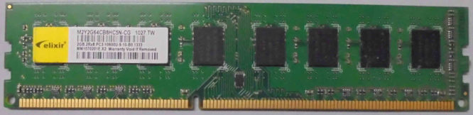 Elixir 2GB 2Rx8 PC3-10600U-9-10-B0.1333