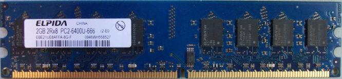 Elpida 2GB 2Rx8 PC2-6400U-666-12-E0