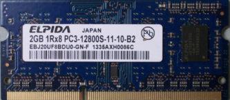Elpida 2GB 1Rx8 PC3-12800S-11-10-B2