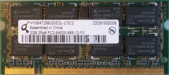 Qimonda 2GB 2Rx8 PC2-6400S-666-12-F0