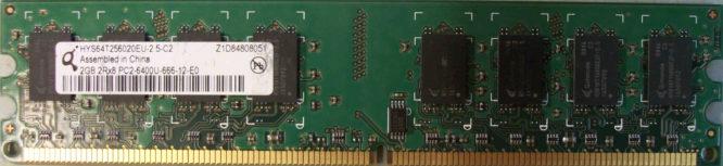 2GB 2Rx8 PC2-6400U-666-12-E0 Qimonda