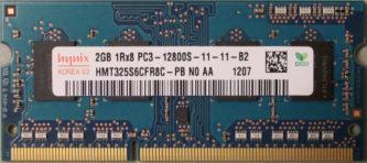SKhynix 2GB 1Rx8 PC3-12800S-11-11-B2