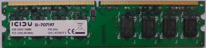ICIDU 2GB DDR2 PC2-5300 667MHz