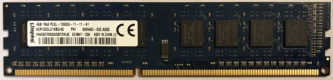 Kingston 4GB 1Rx8 PC3-12800U-11-11-A1