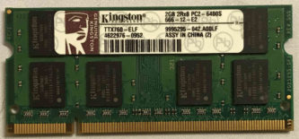 Kingston 2GB 2Rx8 PC2-6400S-666-12-E2