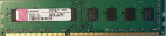 Kingston 2GB 2Rx8 PC3-10600U-9-10-B0