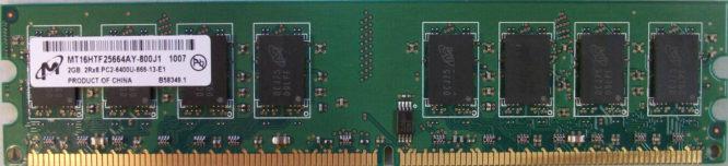 2GB 2Rx8 PC2-6400U-666-13-E1 Micron