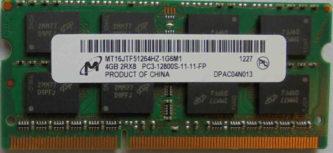 Micron 4GB 2Rx8 PC3-12800S-11-11-FP