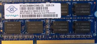 Nanya 2GB 2Rx8 PC3-10600S-9-10-F2.1333