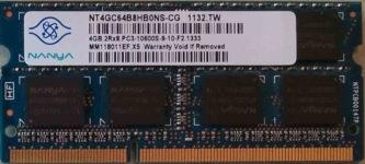 Nanya 4GB 2Rx8 PC3-10600S-9-10-F2.1333