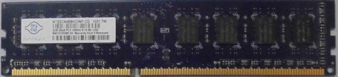2GB 2Rx8 PC3-10600U-9-10-B0.1333 Nanya