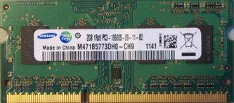 Samsung 2GB 1Rx8 PC3-10600S-9-11-B2