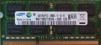 Samsung 4GB 2Rx8 PC3-12800S-11-10-F2