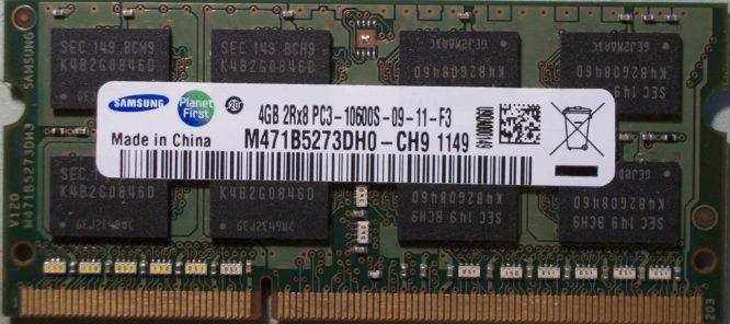 4GB 2Rx8 PC3-10600S-09-11-F3 Samsung