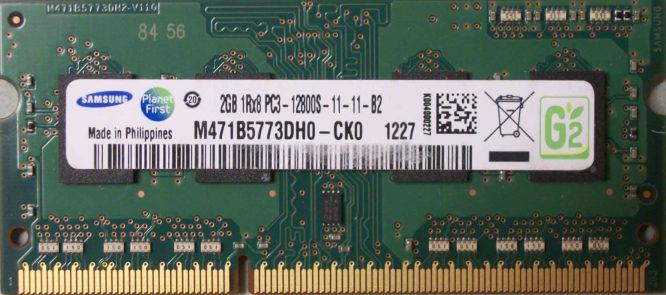 2GB 1Rx8 PC3-12800S-11-11-B2 Samsung