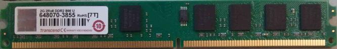 2G 2Rx8 DDR2 800 U Transcend