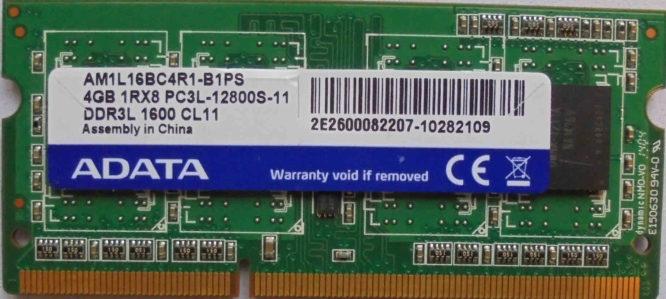 4GB PC3L-12800S ADATA