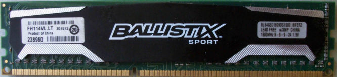 4GB PC3-12800U Crucial