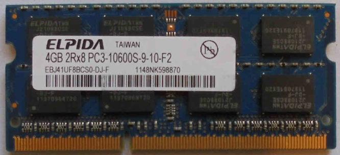 4GB PC3-10600S Elpida