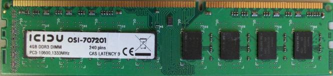 4GB PC3-10600U ICIDU