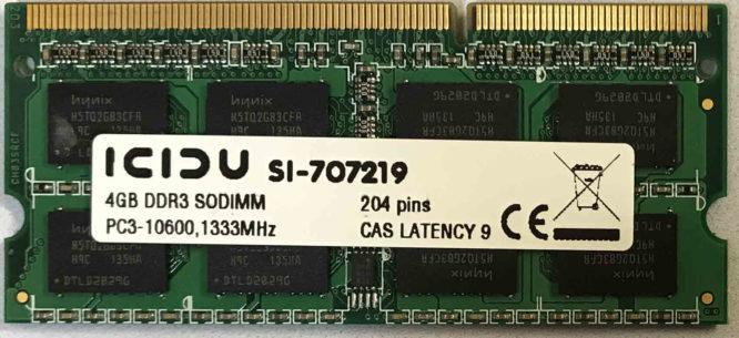 4GB PC3-10600S ICIDU