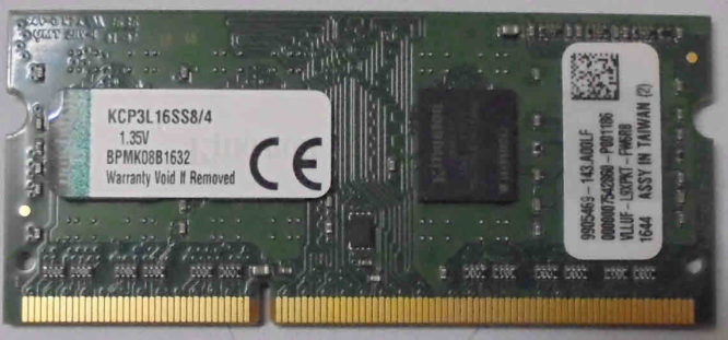 4GB PC3L-12800S Kingston