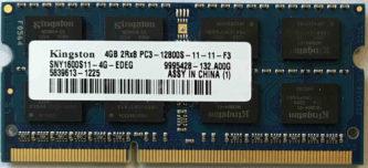 4GB PC3-12800S Kingston