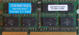 2GB PC3-8500S Lifetime