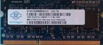 4GB PC3-12800S Nanya