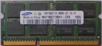 4GB PC3-8500S Samsung