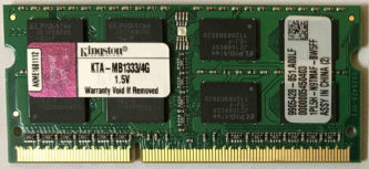 4GB PC3-10600S Kingston
