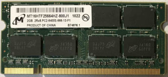 2GB 2Rx8 PC2-6400S-666-13-F1 Micron