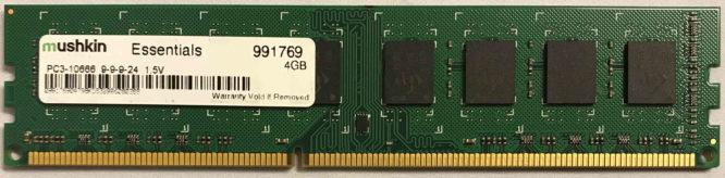 4GB PC3-10600U Mushkin
