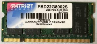 2GB PC2-6400S Patrist