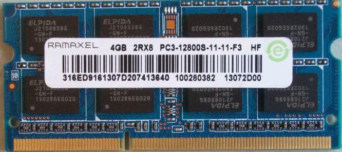 4GB 2Rx8 PC3-12800S-11-11-F3 Ramaxel