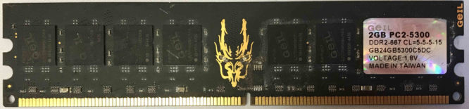 2GB PC2-5300U Geil