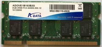 2GB 2Rx8 PC2-6400S-555-12 Adata