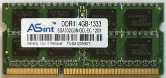 ASint DDRIII 4GB-1333