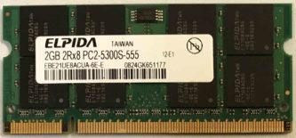 2GB 2Rx8 PC2-5300S-555 Elpida