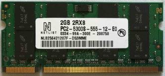 2GB 2Rx8 PC2-5300S-555-12-E0 Netlist