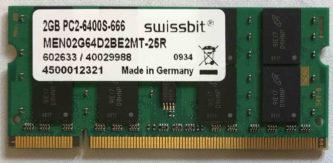 2GB PC2-6400S-666 Swissbit