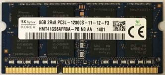 SK hynix 8GB 2Rx8 PC3L-12800S-11-12-F3