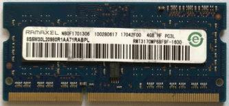 Ramaxel 4GB 2Rx8 PC3L-12800S