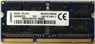 MSI16D3LS1MNG/8G
